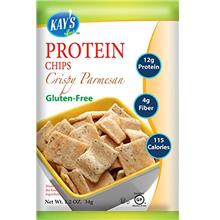 Kay's Naturals Protein Chips Crispy Parmesan Gluten-Free Low Carbs Low Fat Dia