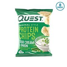 Quest Nutrition Sour Cream  & Onion Protein Chips Low Carb Gluten Free Pot