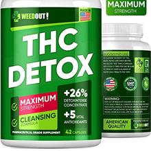 WEEDOUT THC Detox - Drug Cleanse  & Toxins Remove - Made in USA - Liver De