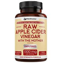 High Strength Raw Apple Cider Vinegar Capsules with Mother 1500mg ACV Diet Pil