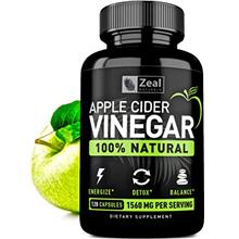 100% Natural Raw Apple Cider Vinegar Pills (1560 mg | 120 Capsules) Pure Apple