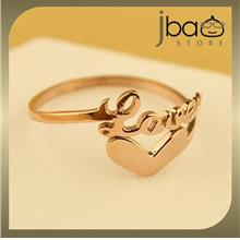 Love Heart Shaped Open Ring 18k Rose Gold Plated Titanium Birthday Valentine G