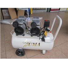 Uma 2x 550W (1.1kW) 50L Oil-Less & Silent Air Compressor