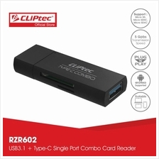 CLiPtec CHINUS USB Type-C Combo Card Reader RZR602)
