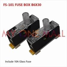 Din Rail Fuse Holder with 10A Glass Fuse (3set)