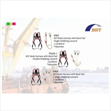 PPE Full Body Harness Double Lanyard Set Absorber BST-Korea TE6114-1