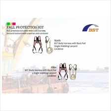 PPE Full Body Harness Single Lanyard Set BST-Korea TE6115