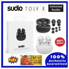 100% Original SUDIO True Wireless Earphones TOLV-R - WHITE, BLACK