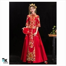 Chinese Traditional Wedding Gown Bride Dress (HXF01)