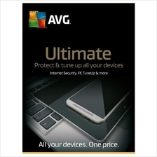 AVG Ultimate 2019 - 1 Year Unlimited Device Windows Mac Android Tuneup