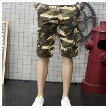 Men's Summer Camouflage Beach Cotton Casual Shorts