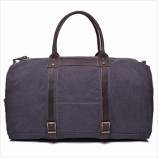 Vintage Style Canvas Duffel Bag Weekend Shoulder Sports Gym Bag