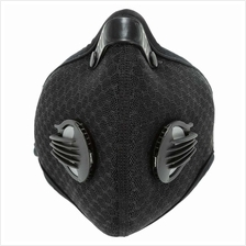 Outdoor Cycling Anti-dust Half Face Mask Dust Mask with Filter (black)