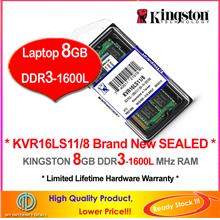 KINGSTON 8GB DDR3-1600 LAPTOP RAM Memory (KVR16LS11/8)