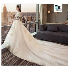 French Fairy Tails Off Shoulder Wedding Gown (J171)