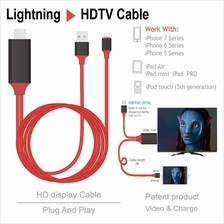 Lightening to HDMI Digital AV TV Cable Adapter For iPad Apple iPhone (