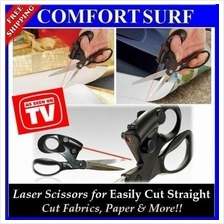 New Professional Laser Guided Scissor For Crafts Wrapping Gifts Fabric
