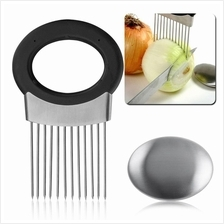 All-In-One Onion Holder, Onion Slicer, Odor Remover  & Chopper, Fruits