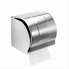 Stainless Steel SUS 304 Wall Mount Toilet Tissue Paper Roll Holder Box