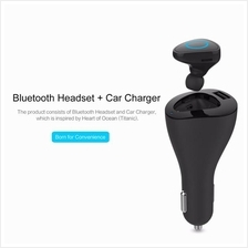 ROCK Muca Bluetooth Earphone Car Charger