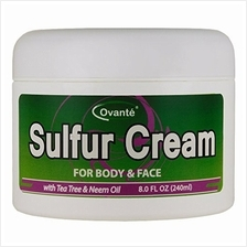 [From USA]Sulfur Skin Cream (8 oz. 240 mL) Antifungal Healing Cream for Jock I