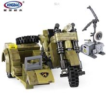 XINGBAO 06008 Military Series The Leaning Motorcycle Set Funny Toys Gi