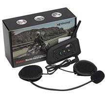 [From USA]Motorcycle Bluetooth Intercom Headset 1200M Full Duplex Two Way Audi