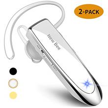 [From USA][2 Pack] New bee Bluetooth Earpiece Wireless Handsfree Headset 24 Hr