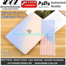PsDs Cream Series Hard Cover Case for MacBook Air Pro Retina Touch Bar