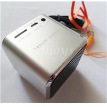 MUSIC ANGEL HD Sound Micro SD AUX IN Portable Mini Speaker Box ~SILVER