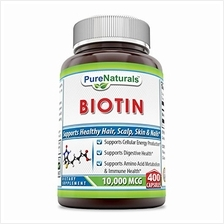 [From USA]Pure Naturals Biotin 10000 Mcg 400 Capsules- Supports Cellular Energ