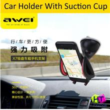 Awei X7 Mobile Phone,GPS Car Holder With Suction Cup