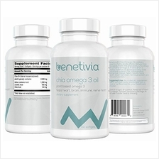 [From USA]Essential Fatty Acids - Benetivia Chia Omega 3 Oil Softgels - 60 Cou