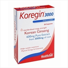 [From USA]Health Aid Koregin 3000 (Korean Ginseng 3000mg) - Blister Pack 30 Ca