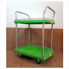 THP-532 Two Tier PVC Platform Hand Truck 900x600mm 300kgs ID30460