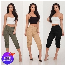 Women Mid-Calf Harem Pants