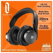 TaoTronics BH21 cVc 6.0 Noise Cancelling Headphones Bass Hi-Fi Audio