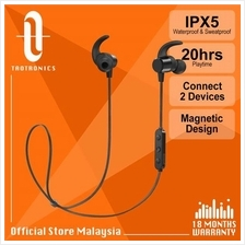 TaoTronics BH067 Pair 2 Devices Magnetic Wireless Sport Earphones)
