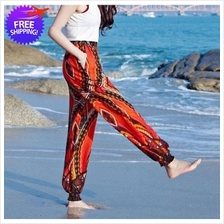 2Pc Women Summer Beach Wear Long Trouser Pants