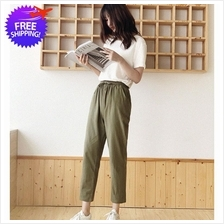 Women Casual Wear Ankle Length Cotton Linen Long Pants