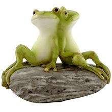 [FromUSA]Top Collection Miniature Fairy Garden and Terrarium Statue Frog Frien