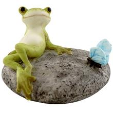 [FromUSA]Top Collection Miniature Fairy Garden and Terrarium Statue Frog Resti