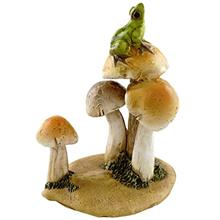 [FromUSA]Top Collection Miniature Fairy Garden and Terrarium Statue Frog on Mu