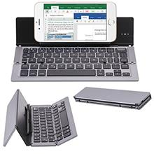 [From USA]DAXXIS Portable Foldable Aluminum Alloy Bluetooth 3.0 Wireless Keybo