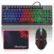 [Good Choice]RGB 87 Keys Gaming Keyboard and Backlit Mouse ComboBlueFinger USB