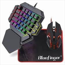[Good Choice]RGB One Hand Mechanical Gaming Keyboard and Backlit Mouse ComboBl