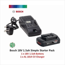 Bosch 18V Simple Starter Pack C/W 1 x 18V 1.5ah Battery  & 1 x Charger
