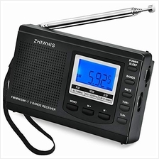 [Free shipping]AM/FM/SW Radio ZHIWHIS Portable Digital Alarm Clock Radio with