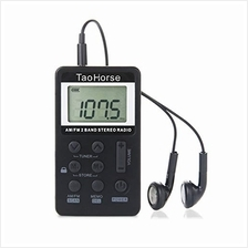 [Free shipping]TaoHorse Portable AM FM 2-Band Radio Operated by Lithium Batter