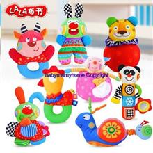 Lalababy Colorful Newborn Baby Cotton Hand Carry Rattle Soft Plush Toy